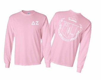 Delta Zeta World Famous Crest Long Sleeve T-Shirt