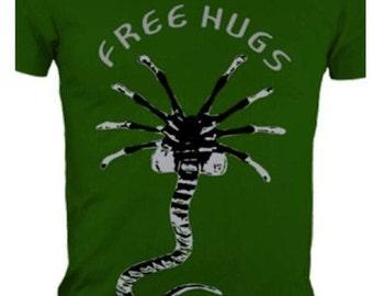 Free Hugs face hugger tshirt