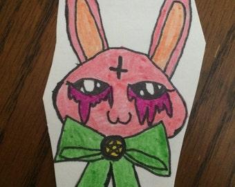 Pastel Goth Bunny OOAK sticker