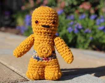Star Wars C-3PO Amigurumi, hand crocheted