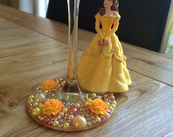 Disney Beauty and the Beast Belle wine glass