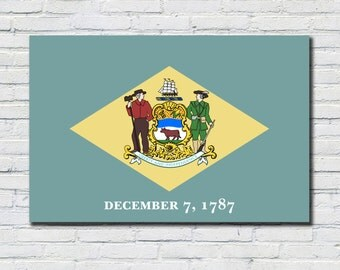 Delaware  Flag Poster, Delaware  State Flag Decor, Delaware  State Flag Art, Delaware State Flag Print, Delaware  Flag Wall Art