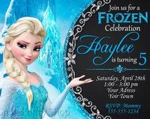 Frozen Invitation, Elsa Invitation,  Frozen Party, PERSONALIZED, Digital File