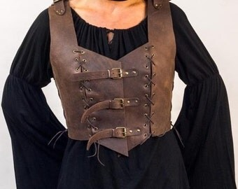 Leather corset, medieval steampunk