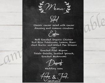 Wedding menu, Wedding menu template, Wedding menu cards, Wedding menu printable, Wedding menu sign, Wedding menu board, menu chalkboard