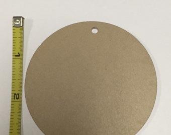 3 Inch Clear Acrylic Circle Keychain set of 5