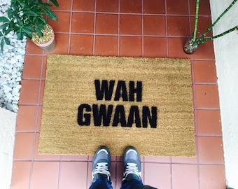 Wah Gwaan Jamaican Doormat by One Summer