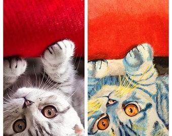 Items Similar To Custom Pet Portrait Ceramic Necklace Your