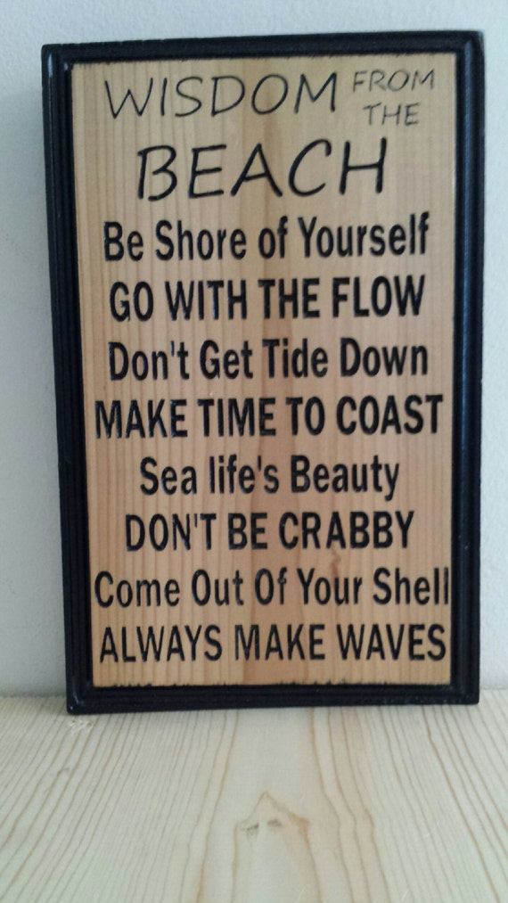 Wooden beach carved sign sayings house beaches
