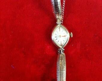 Vintage Bulova Ladies Watch 10k Gold Plated,Winding Watch