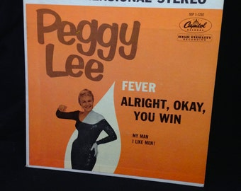 """Peggy Lee """"Fever"""" 7"""" EP 45rpm"""