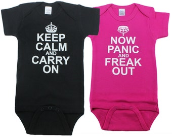 Twin baby gifts twin gifts set of 2 He Did It She Did