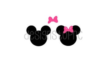 Mickey/Minnie Mouse Silhouette Files