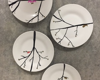 Bird and Twig plate set