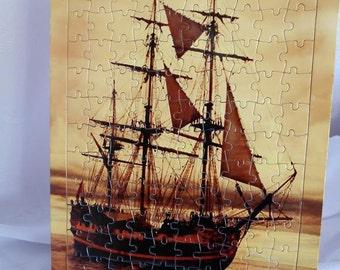 Old ship sailing bot jigsaw Puzzle,bot puzzle,sailboat,sailing puzzle,ijgsaw puzzle,art jigsaw puzzle,vintage art,old vintage