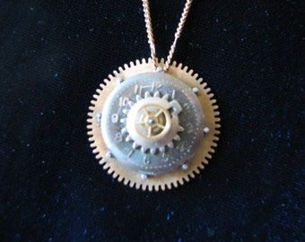 Steampunk Clockface Necklace