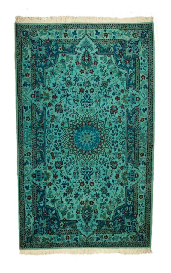 sarcelle dhiver 4 7 overdyed tapis persan nain vintage 2670. Black Bedroom Furniture Sets. Home Design Ideas