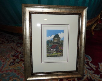 CANADA LITHOGRAPH ART Wall Hanging by Josee Rousseau