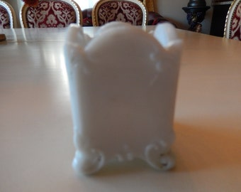 VICTORIAN MILK GLASS Toothpick Holder