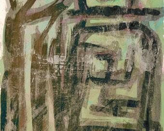 E for Love Series #4.  Giclee Fine Art Print: , Abstract Art, Wall Art, Home Office Decor