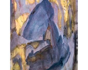 O for Love Series #5.  Giclee Fine Art Print: , Abstract Art, Wall Art, Home Office Decor