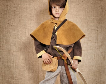 The complete Robin Hood Costume for kids - 9pc