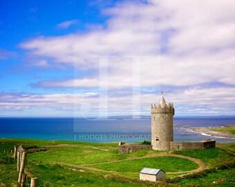 The Watchful Eye of Doonagore {PRINT - Landscape Photography - Doonagore Castle - Doolin Ireland - Irish Castle - Castle Photography}