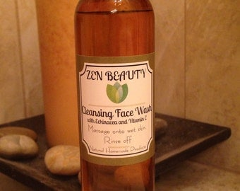 Organic Cleansing Face Wash with Calendula, Echinacea and Vitamin C