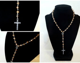 Golden Lace Rosary