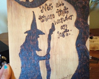 Wooden Gandalf Plaque