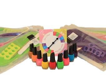 Spa Birthday Party Game-Rainbow Pedicure Nail Polish Game