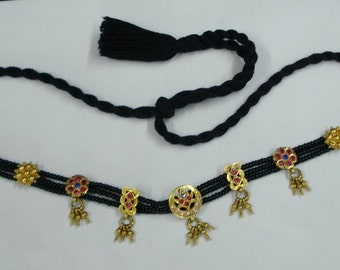 vintage antique tribal old 22k gold beads choker necklace gold necklace