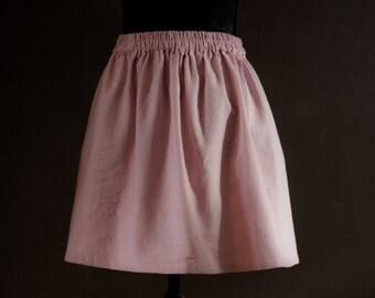 Skirt in linen pink