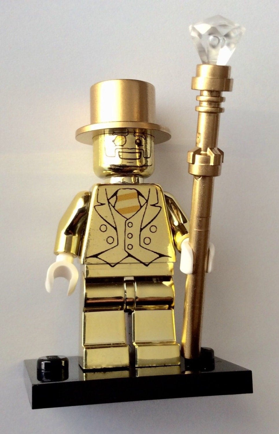 10 Gold Smoky Eye Tutorials For Fall: Lego Mr Gold Custom Chrome Minifigure Series 10 Mini Fig 71001