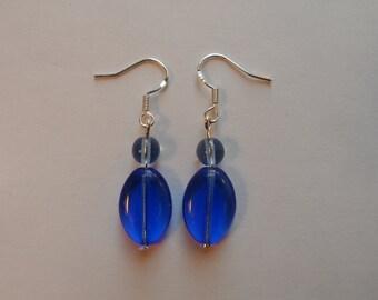 Handmade Earrings - Glass Beads - 925 Silver
