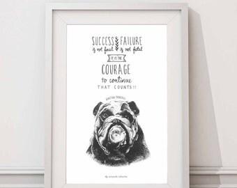 Winston Churchill - Success/Failure quote