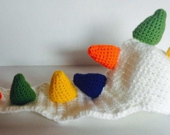 """Dinosaur """"blanket"""" and hat baby phot prop"""