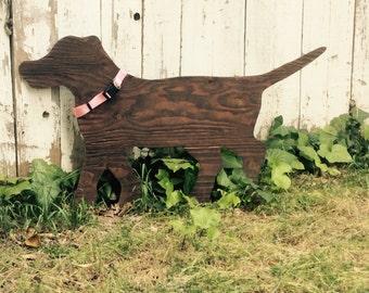 Wooden Silhouette Puppy