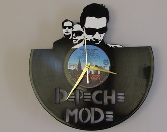 Depeche mode clock, vinyl record clock, Depeche mode, vinyl wall clock, record wall clock, vinyl clock