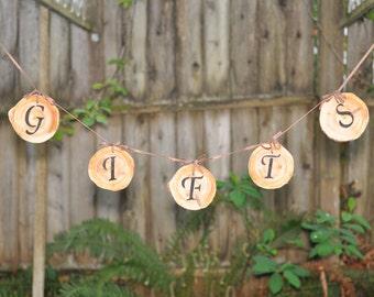 Rustic Wedding Gift Table Sign - Rustic Wood wedding Banner -  Wedding Gifts Banner - Rustic Wedding Decoration, wedding banner, gift banner