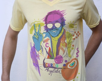 Curtis Mayfield T shirt Artwork