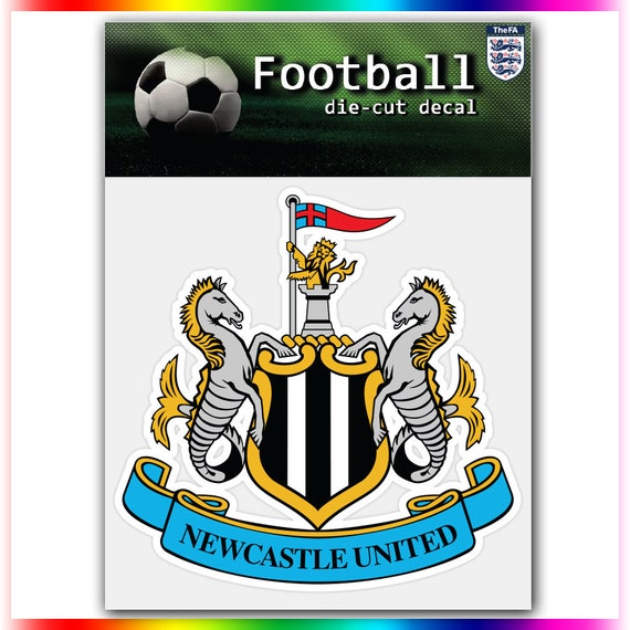 newcastle united fc england uefa football logo by stickerforfun. Black Bedroom Furniture Sets. Home Design Ideas