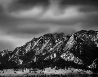 Nature Photography - Boulder Colorado | Flatirons | Boulder | Black and White | Canvas and/or Print