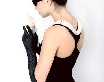 Originial Complete Audrey Hepburn Black Dress Costume – the Breakfast at Tiffany's costume set