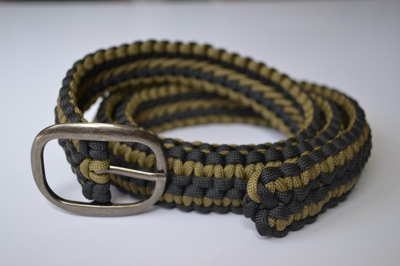 Custom belt 550 paracord double cobra weave for Paracord belt instructions