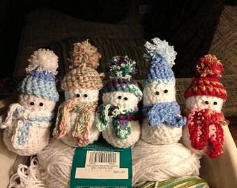 Crocheted Snowman Ornament