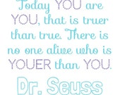 Dr. Seuss Quote Poster, computer technology, digital design, teacher materials, educational posters