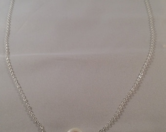 Coin Pearls and Sterling Necklace