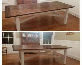 X Style farmhouse  dining table