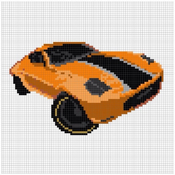 Hot Wheels Perler Bead Pattern By Chasersgaming On Etsy